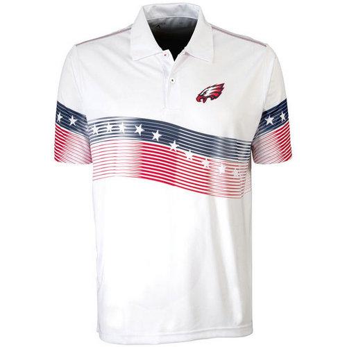 Philadelphia Eagles White Antigua Patriot Polo