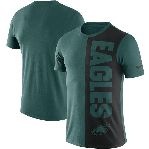 Philadelphia Eagles Nike Coin Flip Tri-Blend T-Shirt - Midnight GreenBlack