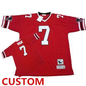Atlanta Falcons Custom Red Throwback Jersey