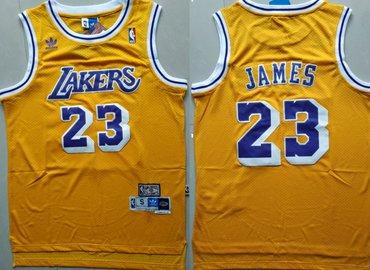 Youth Los Angeles Lakers #23 Lebron James Yellow Hardwood Classics Jersey