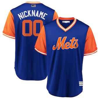 Men's New York Mets Majestic Royal 2018 Players' Weekend Cool Base Custom Jersey