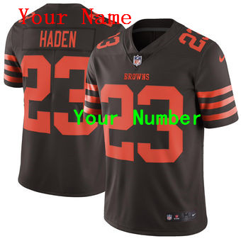 Nike Cleveland Browns Brown Vapor Untouchable Color Rush Limited Custom Jersey