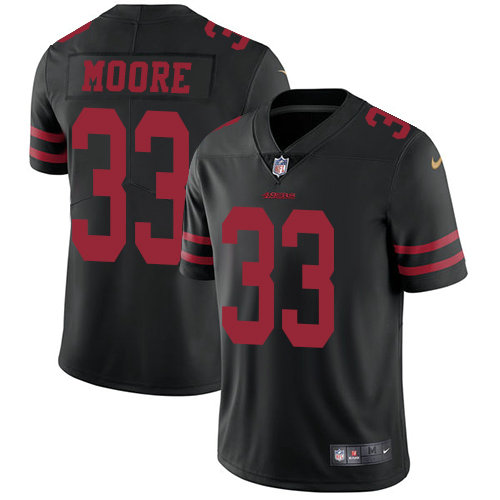 Youth Nike 49ers 33 Tarvarius Moore Black Alternate Stitched NFL Vapor Untouchable Limited Jersey