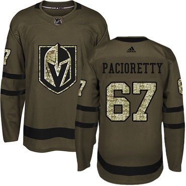 Adidas Vegas Golden Knights #67 Max Pacioretty Green Salute to Service Stitched NHL Jersey
