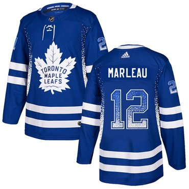 Adidas Toronto Maple Leafs #12 Patrick Marleau Blue Home Authentic Drift Fashion Stitched NHL Jersey