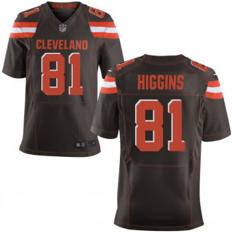 Nike Cleveland Browns #81  Rashard Higgins Brown Stitched NFL Elite Jersey