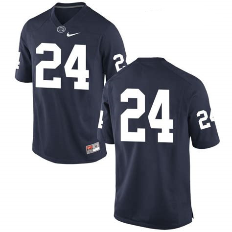 Men's Penn State Nittany Lions #24 Miles Sanders No Name Navy Blue College Football Stitched Nike NCAA Jersey