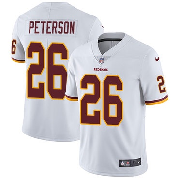 Nike Washington Redskins #26 Adrian Peterson White Men's Stitched NFL Vapor Untouchable Limited Jersey