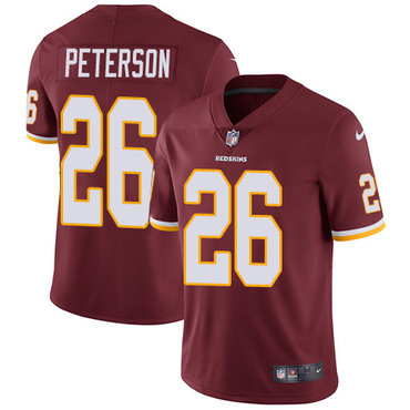 Nike Washington Redskins #26 Adrian Peterson Burgundy Red Team Color Men's Stitched NFL Vapor Untouchable Limited Jersey