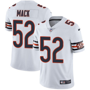 Nike Chicago Bears #52 Khalil Mack White Men's Stitched NFL Vapor Untouchable Limited Jersey