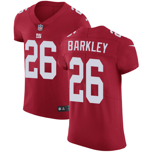Nike New York Giants #26 Saquon Barkley Red Alternate Men's Stitched NFL Vapor Untouchable Elite Jersey