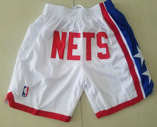 Men's Brooklyn Nets White Just Don Shorts Swingman Shorts
