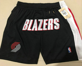Men's Portland Trail Blazers Black Just Don Shorts Swingman Shorts
