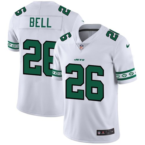 New York Jets #26 Le'Veon Bell Nike White Team Logo Vapor Limited NFL Jersey