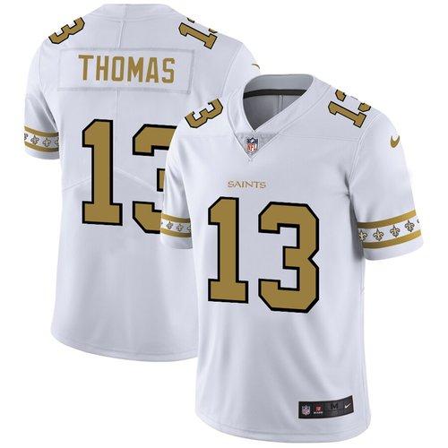 New Orleans Saints #13 Michael Thomas Nike White Team Logo Vapor Limited NFL Jersey