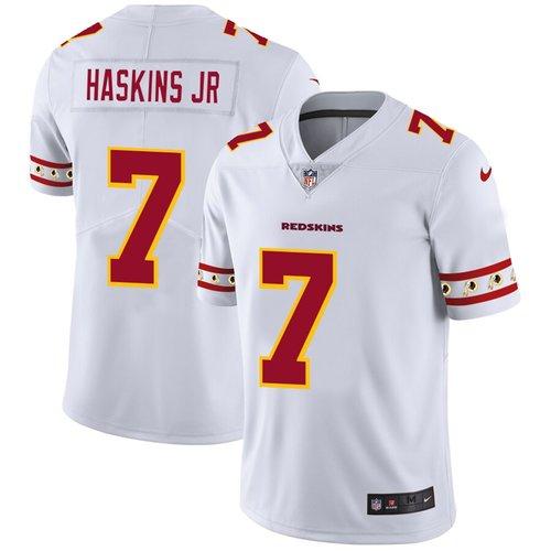 Men's Washington Redskins #7 Dwayne Haskins Jr Nike White Team Logo Vapor Limited NFL Jersey