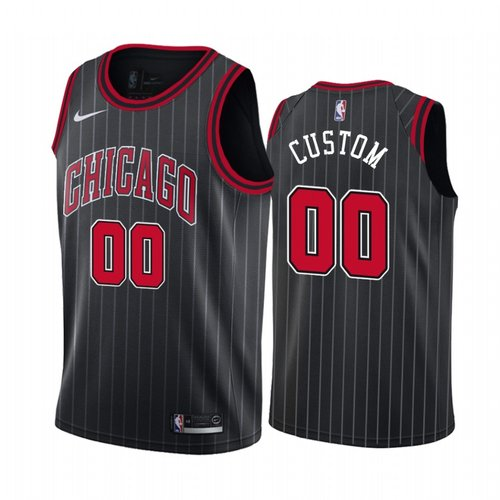 Nike Chicago Bulls Custom Black 2019-20 Statement Edition NBA Jersey