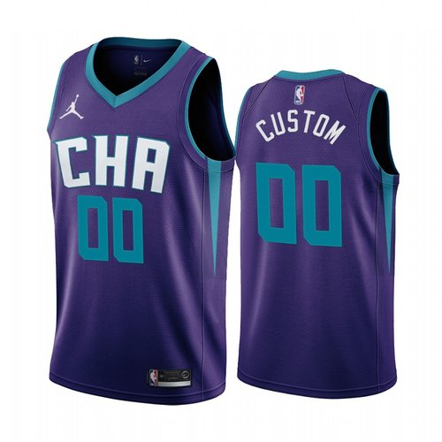 Nike Charlotte Hornets Custom Purple 2019-20 Statement Edition NBA Jersey