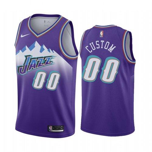 Nike Utah Jazz Custom Purple 2019-20 Hardwood Classic Edition Stitched NBA Jersey