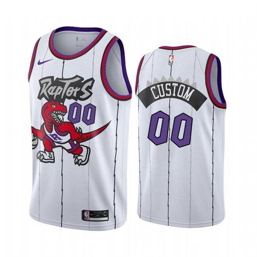 Nike Toronto Raptors Custom White 2019-20 Hardwood Classic Edition Stitched NBA Jersey