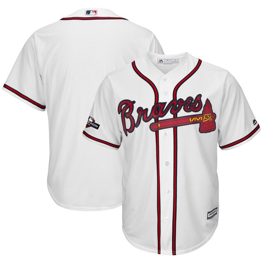 Atlanta Braves Majestic 2019 Postseason Official Cool Base Team White Jersey