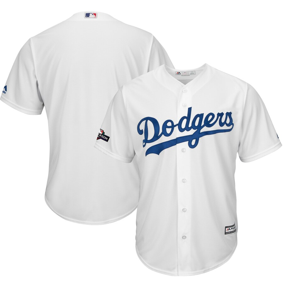 Los Angeles Dodgers Majestic 2019 Postseason Home Official Cool Base Player White Jersey