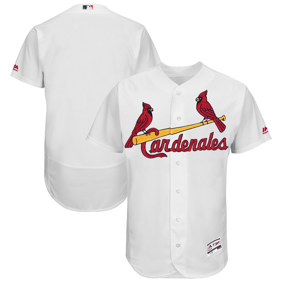 St. Louis Cardinals Majestic 2019 Hispanic Heritage Flex Base Authentic Team White Jersey
