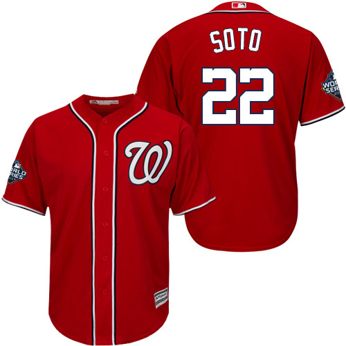 Men's Washington Nationals #22 Juan Soto Red 2019 World Series Bound Cool Base Stitched MLB Jersey