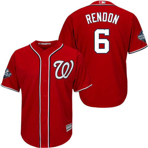 Men's Washington Nationals #6 Anthony Rendon Red 2019 World Series Bound Cool Base Stitched MLB Jersey