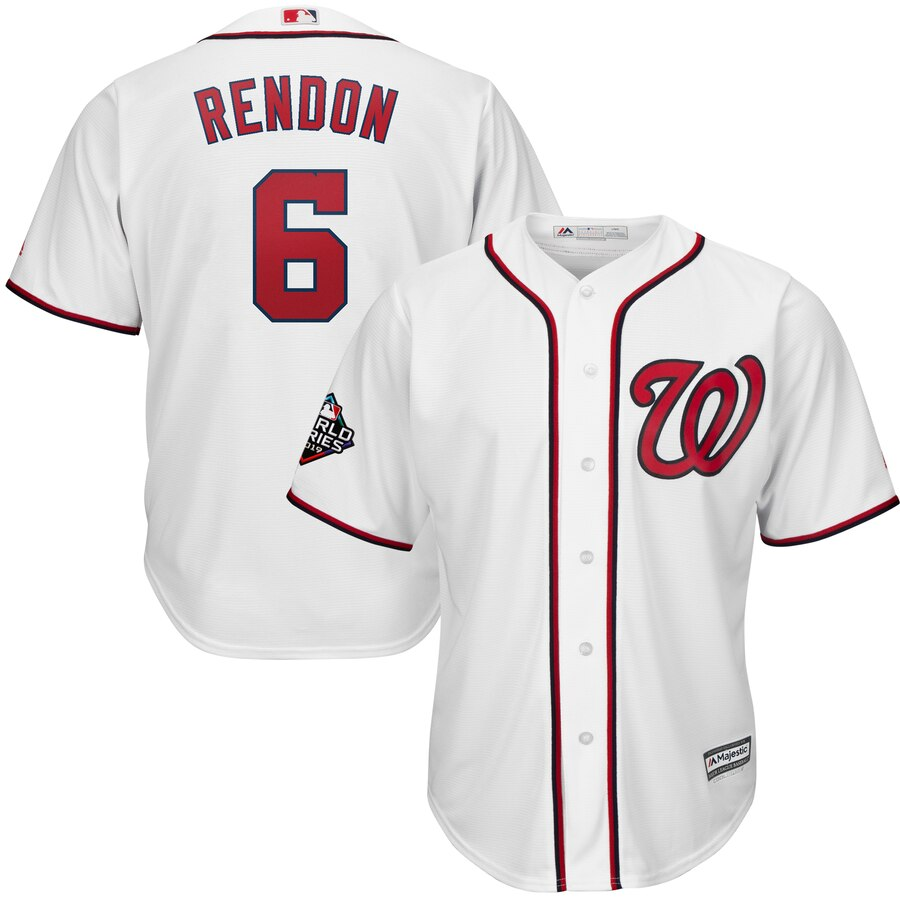 Men's Washington Nationals #6 Anthony Rendon White 2019 World Series Bound Cool Base Stitched MLB Jersey
