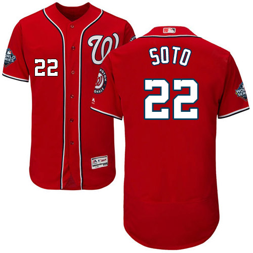 Men's Washington Nationals #22 Juan Soto Red 2019 World Series Bound Flexbase Authentic Collection Stitched MLB Jersey