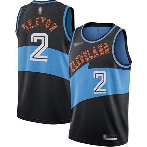 Cavaliers #2 Collin Sexton Black Basketball Swingman Hardwood Classics Jersey