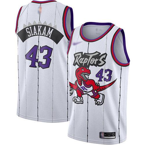Raptors #43 Pascal Siakam White Basketball Swingman Hardwood Classics Jersey