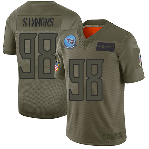 Nike Titans #98 Jeffery Simmons Camo Men's Stitched NFL Limited 2019 Salute To Service Jersey