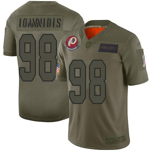 Nike Redskins #98 Matt Ioannidis Camo Men's Stitched NFL Limited 2019 Salute To Service Jersey
