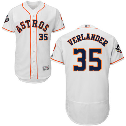 Astros #35 Justin Verlander White Flexbase Authentic Collection 2019 World Series Bound Stitched Baseball Jersey