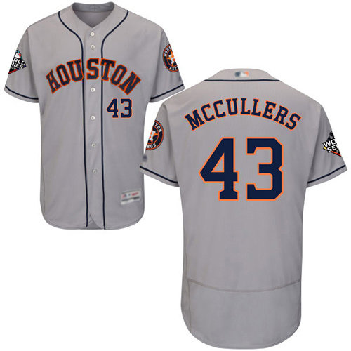 Astros #43 Lance McCullers Grey Flexbase Authentic Collection 2019 World Series Bound Stitched Baseball Jersey