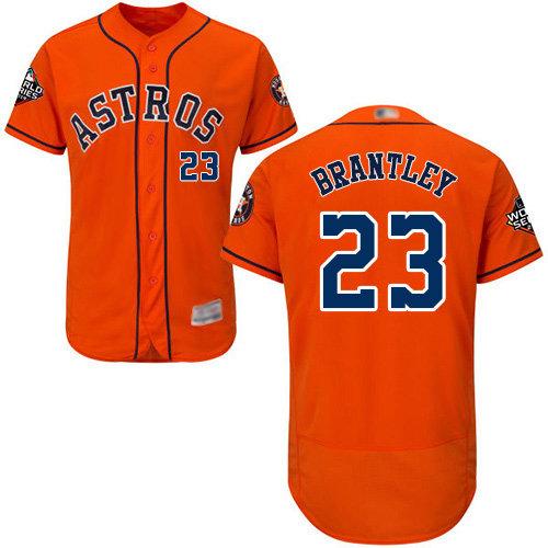 Astros #23 Michael Brantley Orange Flexbase Authentic Collection 2019 World Series Bound Stitched Baseball Jersey