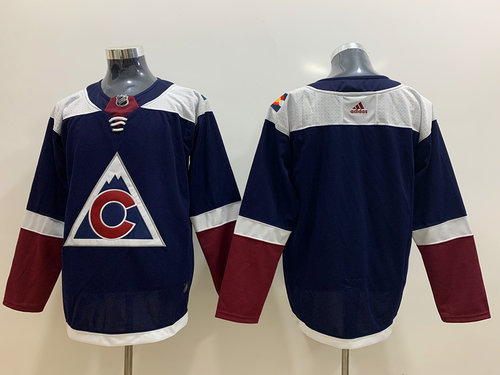 Men's Colorado Avalanche Blank Navy Alternate Adidas Jersey