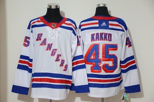 Men's New York Rangers 45 Kaapo Kakko White Adidas Jersey