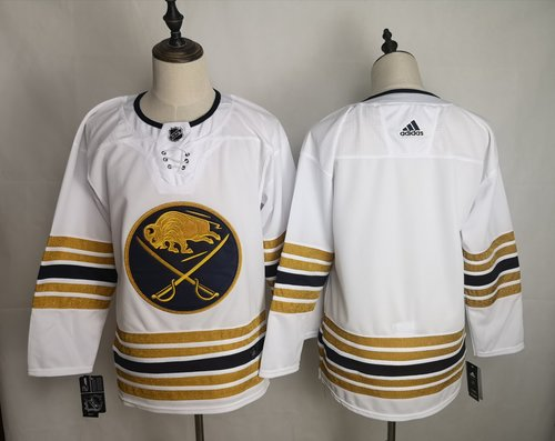 Men's Buffalo Sabres Blank White 50th anniversary Adidas Jersey