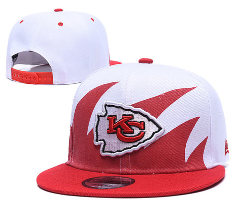 Chiefs Team Logo Red White Adjustable Hat