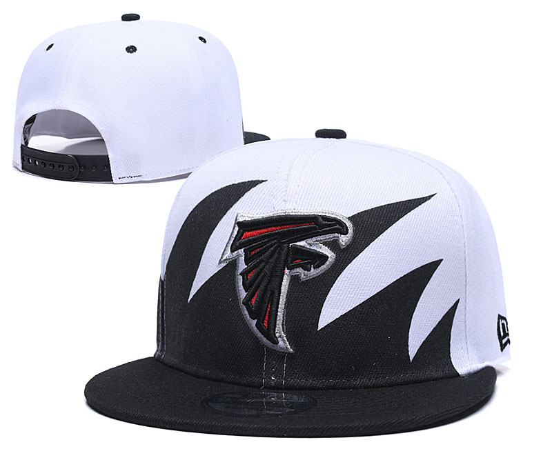 Falcons Team Logo Black White Adjustable Hat