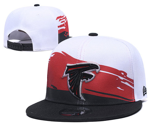 Falcons Team Logo Black Red Adjustable Hat