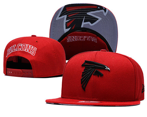 Falcons Team Logo Red Adjustable Hat