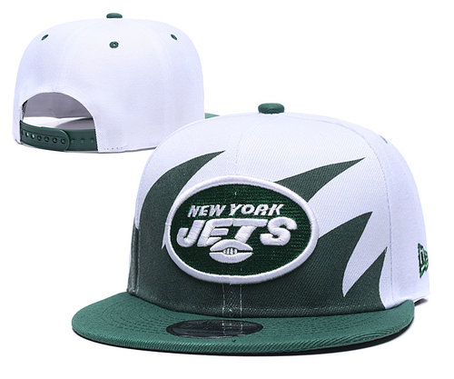 Jets Team Logo Green White  Adjustable Hat GS