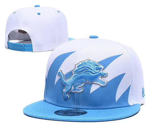 Lions Team Logo Blue White Adjustable Hat