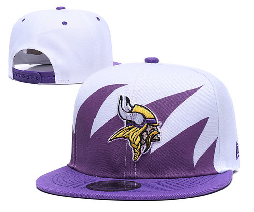 NFL Minnesota Vikings Team Logo Purple White Adjustable Hat