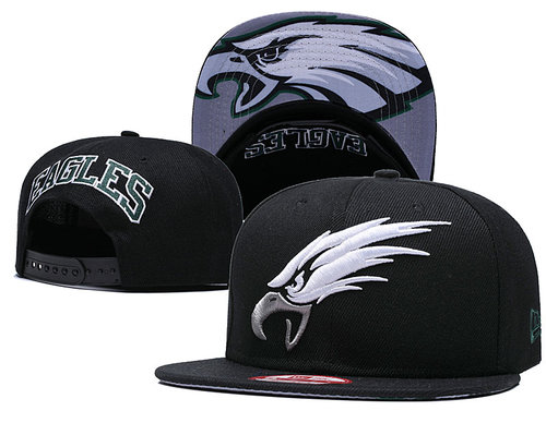 NFL Philadelphia Eagles Fresh Logo Black Adjustable Hat