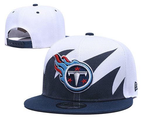 Titans Team Logo Navy White Adjustable Hat